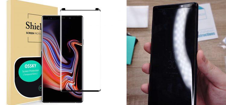 Samsung Galaxy Note 9 – Großes Panzerglas mit offener Notch