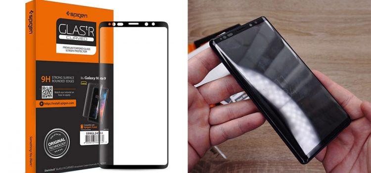 Samsung Galaxy Note 9 – Großes Panzerglas mit geschlossener Notch von Spigen
