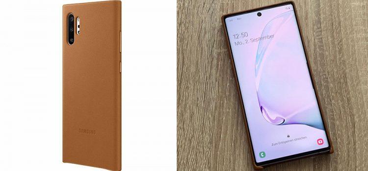 Samsung Galaxy Note 10 & Plus – Original Leder Cover im Test