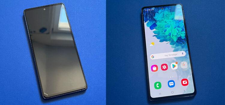 Samsung Galaxy S20 FE 5G – Das Panzerglas mit schwarzen Rahmen von Spigen im Test