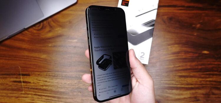 iPhone 12 Privacy Panzerglas – Das Spigen Glas.tR EZ Fit im Test
